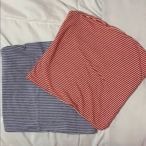 Two Brandy Melville Striped Tube Tops
